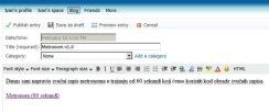 Slika 19 - Windows Live (Spaces - novi blog zapis)