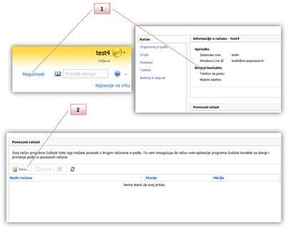 slika3 - Dodavanje drugih  korisničkih računa elektroničke pošte
