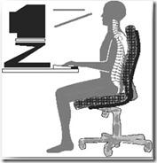 Slika 3. Pravilno sjedenje prilikom rada na računalu