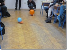 Utrka automobila s pogonom na balon, rad učenika 1. c razreda Gimnazije Vukovar