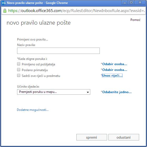 Objavite e-poštu za sastanke u programu Outlook