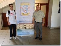 Učenik Marko Sablić i ravnatelj Davor Šijanović
