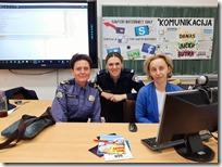 Slika 5 Policijske sluzbenice odjela za prevenciju Mirna Maric i Marijana Ivakic