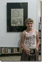 Slika 4 Izložba u mjesnoj knjižnici Divača