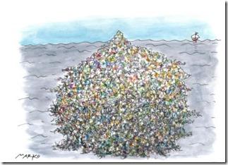 Slika 4. Karikatura – plastika u moru