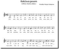 Slika 3. Kekčeva pjesma