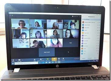 Sastanak tima pomoću aplikacije ZOOM